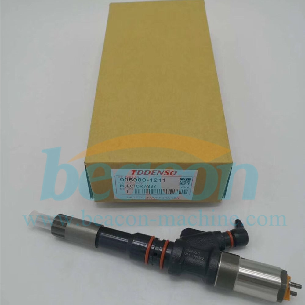 Excavator PC400-7 Engine 6D125E SA6D125E Injector Nozzle Assy 6156-11-3300 Diesel Fuel Injector 095000-1211
